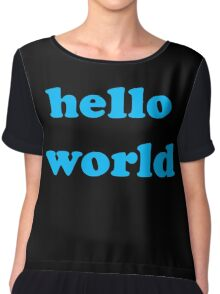Cute Baby Jumpsuit PJ - Hello World - T-Shirt Chiffon Top