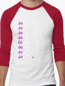 Jojo's Bizzare Helvetica Men's Baseball ¾ T-Shirt