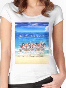 Love Live! Sunshine!! Shirt Women's Fitted Scoop T-Shirt
