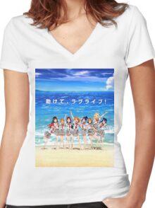 Love Live! Sunshine!! Shirt Women's Fitted V-Neck T-Shirt