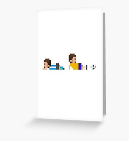Retro Soccer Greeting Card