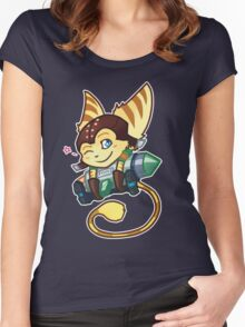 Cute and Deadly Fluffball Women's Fitted Scoop T-Shirt