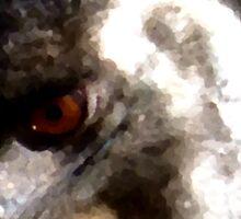 Native Australian Emu - Digital Oil Painting Sticker