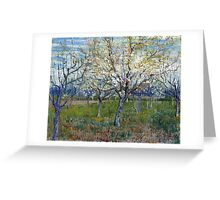 Vincent van Gogh The Pink Orchard Greeting Card