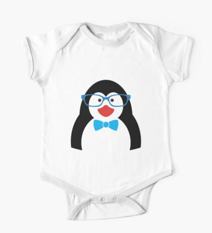 Penguin with glasses One Piece - Short Sleeve