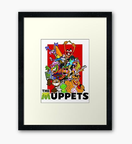 The Muppets Cartoon Framed Print