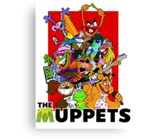 The Muppets Cartoon Canvas Print