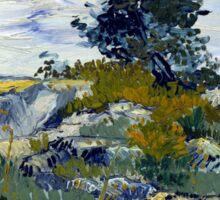 Vincent van Gogh The Rocks Sticker