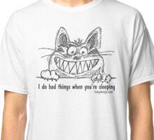 Bad Cat Illustration Drawing Humor Classic T-Shirt