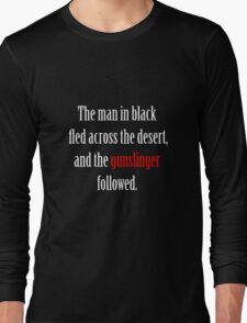 The man in black and the Gunslinger Long Sleeve T-Shirt