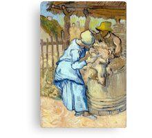 Vincent van Gogh The Sheep-Shearer Canvas Print