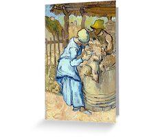 Vincent van Gogh The Sheep-Shearer Greeting Card