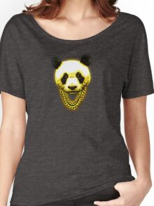 Panda Desiigner Yellow Women's Relaxed Fit T-Shirt