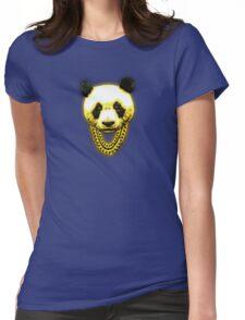 Panda Desiigner Yellow Womens Fitted T-Shirt