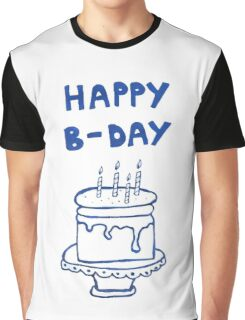 Happy birthday card with cake  Graphic T-Shirt