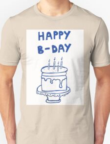 Happy birthday card with cake  Unisex T-Shirt