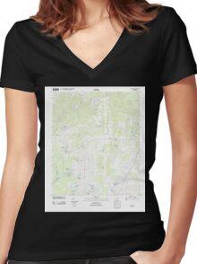 USGS TOPO Map Alabama AL Melton 20111206 TM Women's Fitted V-Neck T-Shirt
