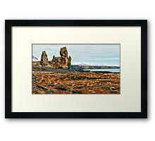 Londrangar and Lava Fields Framed Print
