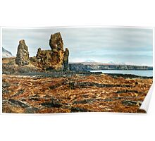 Londrangar and Lava Fields Poster