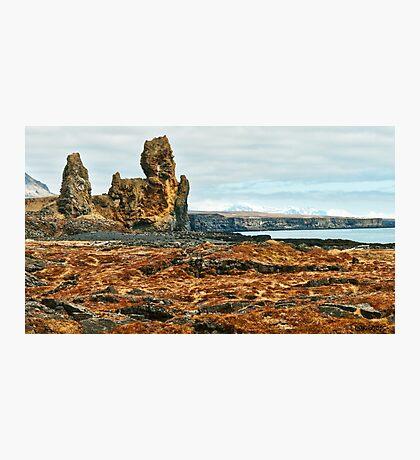 Londrangar and Lava Fields Photographic Print
