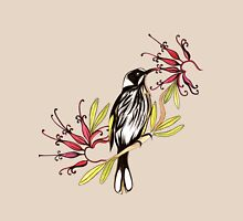 Honeyeater bird with grevillea flowers Unisex T-Shirt