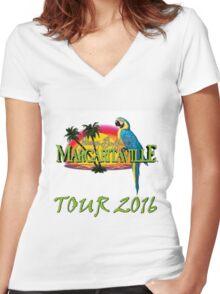 JIMMY BUFFET TOUR 2016 Women's Fitted V-Neck T-Shirt