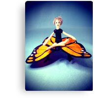 Butterfly Rider Canvas Print