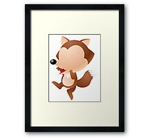 Cartoon mouse character Framed Print