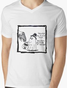 Baby Pilgrim Halloween Mens V-Neck T-Shirt