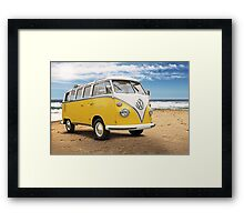 Vintage VW Samba Bus Framed Print