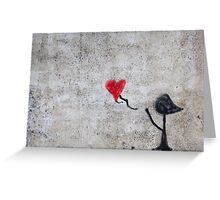 Heart and girl. Greeting Card