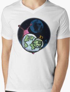 Alien Snail Mens V-Neck T-Shirt