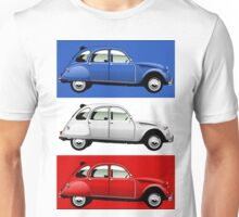 Citroën 2CV red, white and blue Unisex T-Shirt