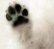 Dog Art - I Paw You by Sharon Cummings