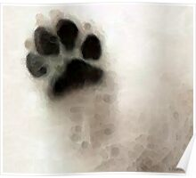 Dog Art - I Paw You Poster