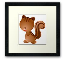 Funny squirrel Character Framed Print