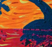 Island Sunset Silhouette Sticker