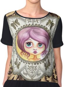 Little Lilac - Purple Hair Pastel Goth Girl Chiffon Top