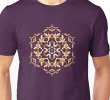 Mandala of bordo and yellow colors Unisex T-Shirt
