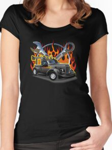 Retro Hot Rod Women's Fitted Scoop T-Shirt