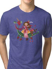 St Valentines On His Dragon Tri-blend T-Shirt