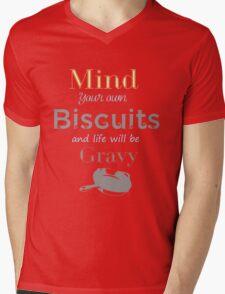 Mind Your Own Mens V-Neck T-Shirt