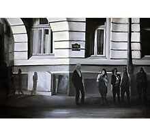 Waiting at the stop sign, 2012, 120-80cm, oil on canvas Photographic Print