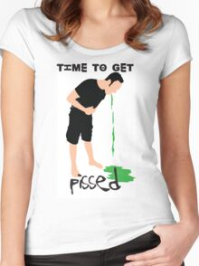 Time to get pissed Women's Fitted Scoop T-Shirt