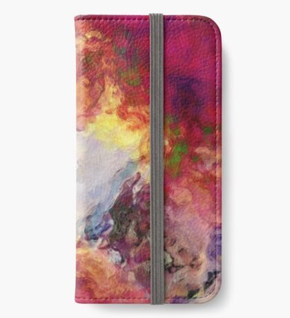 Shades of Red Abstract iPhone Wallet/Case/Skin