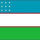 Uzbekistan Flag Stickers by Mark Podger