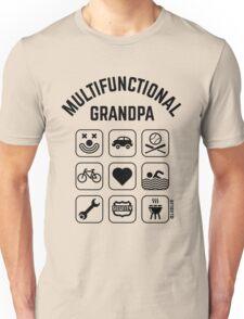 Multifunctional Grandpa (9 Icons) Unisex T-Shirt