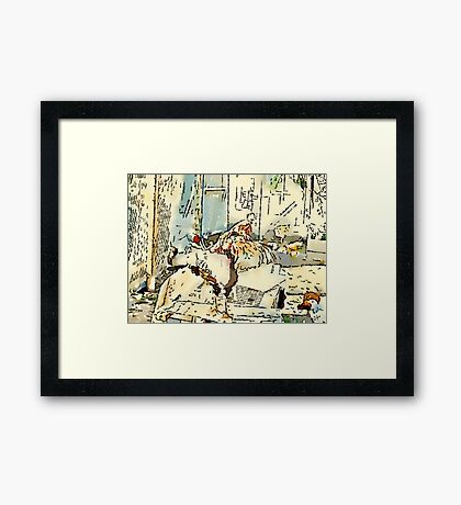 King Of The Chook Yard Framed Print
