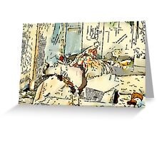 King Of The Chook Yard Greeting Card