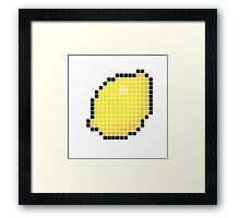 8 bit pixel lemon Framed Print